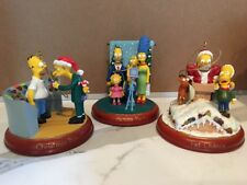 Simpsons Bradford Illuminated Christmas 3-piece Ornaments 4th Issue #A5182