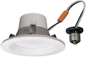 Commercial Electric T42 4 in. Matte White Recessed LED Smart Downlight Lot of 2