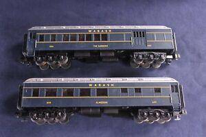 MTH Electric Trains Wabash O Gauge RailKing 2-Car O-27 Madison Combo/Diner Set