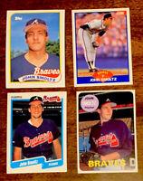 1989 Score #616 John Smoltz HOF Rookie & 1989 Topps #382 Rookie  + 2 - Braves