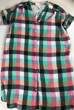 Isabel Maternity Dress Womens Small Colorful Checkered Quilted Pregnancy NEW