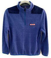 Vineyard Vines Sankaty Performance Top Boys Size L 16 Blue Shep Shirt 1/4 Zip