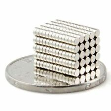 100pcs Tiny Disc 2x1mm Neodymium Rare Earth N35 Strong Magnets For Craft Models