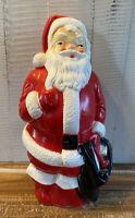"Vintage 1968 Empire Plastic Santa Claus Christmas Blow Mold 13"" Tall"
