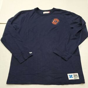 NWOT Chicago Bears Blue Mitchell & Ness Long Sleeve Shirt 3XL New Without Tags