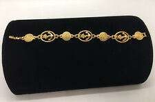 Vintage 1970's Signed Avon Gold Tone Anchor Rope Coiled Bracelet