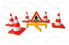 YRTS Playmobil 7280 Señal STOP y 5 Conos ¡New!