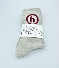 Hidden NY Comfy Socks Grey Red Brand New MADE IN USA