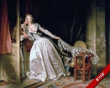 STOLEN KISS VINTAGE VICTORIAN ERA ROMANCE PAINTING CANVAS GICLEE 8X10 ART PRINT