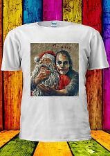 The Joker Heath Ledger Santa Claus T-shirt Vest Tank Top Men Women Unisex 2253