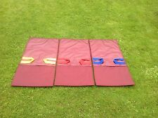 BOUNCY CASTLE SLIDE BAGS SACKS BURGANDY  X 3 ( SIZES APPROX 101cm x 53cm ) NEW