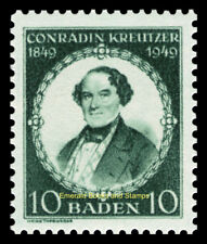 EBS Germany 1949 French Zone Baden Conradin Kreutzer composer Michel 53 MNH**