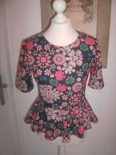 H&M Damen Tunika Blusen Shirt Gr.S 36 Blumen wNEU