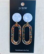 J.Crew Factory Tortoise Statement Earrings! Multi Sparkle Acetate New$34.50!