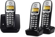 Siemens Gigaset A160 Trio schnurlostelefon schwarz gebraucht 3 Mobilteile