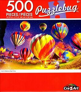 Puzzlebug 500 - Hot Air Balloons Night Glow