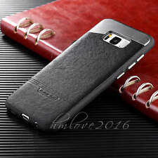 Deluxe Leather Ultra thin Hard Back Case Cover For Samsung Galaxy S7 & S8 Plus