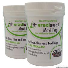 2 x eradisect Maxi Insecte Brouillard Générateur de fumée bombe-Tue Puces Mouches punaises