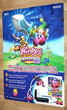 Kirby's Return to Dream Land Adventure Wii Nintendo promo Poster 84x59.5cm