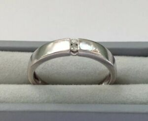 9ct Gold Diamond Ring Size L1/2