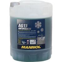 Kühlflussigkeit MANNOL Antifreeze AG13 (- 40°C) 10 L Plastic Frostschutz grün