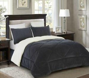 Lorient Home Reversible Fleece/Sherpa Comforter 3 piece Set