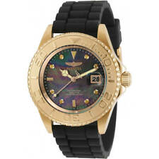 Invicta Men's Watch Pro Diver Quartz MOP Dial Black Silicone Strap 31188
