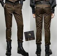 Pantalon costume gothique steampunk neo victorien rayures dandy Punkrave homme
