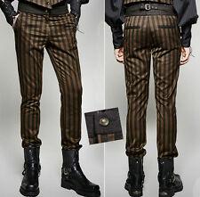 Pantalon costume gothique steampunk néo victorien rayures dandy PunkRave homme