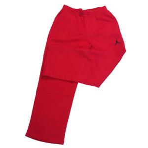 Nike Air Jordan Flight Warmup Fleece Men's Pants Retro Red Joggers 547662 695