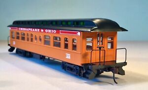 HO C&O, Business Car #402, from Roundhouse Set 84838, Wood-sided 50' Old Time