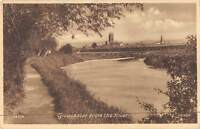 uk19005 gloucester from the river real photo uk