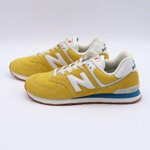 Size 10.5 Men's New Balance 574 Sneakers ML574HB2 Varsity Gold/Deep Sky