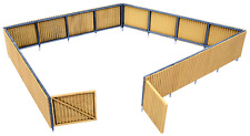 3632 Walthers Cornerstone Corrugated Fence HO Scale