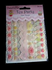Dovecraft 'Tea Party' Clear Stamps - Borders