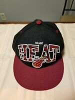 Vintage Youth New Era NBA Miami Heat Snapback Hat, Collectible, Large Logo