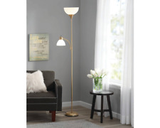 Mainstays MS1702100104 72 inch Gold Floor Lamp with Reading Light