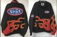 Vintage NHRA Winston Drag Racing Jacket All Over Flames H3 Sportgear Size XXL
