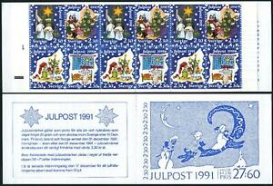Sweden 1910-1913a booklet,MNH.Mi MH 165. Christmas 1991.Family dancing,tree.