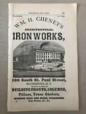 1871 Cheney Architectural Iron Works Rochester NY Advertisement #B-28