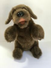 Folkmanis Super Cute Sitting Brown Dog Hand Puppet