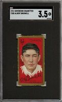 Rare 1911 T205 Gold Border Albert Bridwell Sovereign New York Giants SGC 3.5 VG+