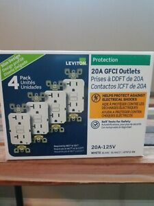 Leviton 20A GFCI Outlets Self Test (4 pack)