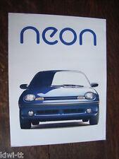 Chrysler Neon 2-door Coupe, 4-door Sedan Prospekt / Brochure, Canada, 1995