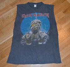 RaRe *1984-85 IRON MAIDEN* vtg concert tour sleeveless shirt (M/L)80s Rock Metal