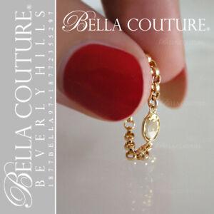$399 NEWBC®VICTORIAN 14K YELLOW GOLD CITRINE GEM DIAMOND FACETED VTG CHAIN RING