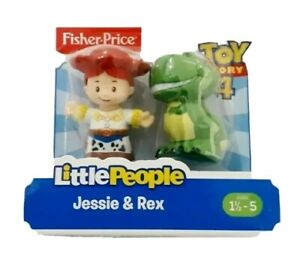 Disney Toy Story Fisher Price Jessie And Rex Figures Little People