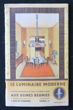 Catalogue 1958 LE LUMINAIRE MODERNE PARIS lustre lampe catalog Katalog