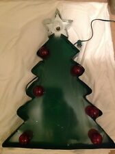 Metal Marquee Christmas Tree Light Up Sign Rustic Wall Decor Plug In