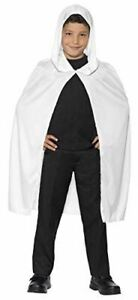 Childrens White Long Hooded Cape Fancy Dress Costume
